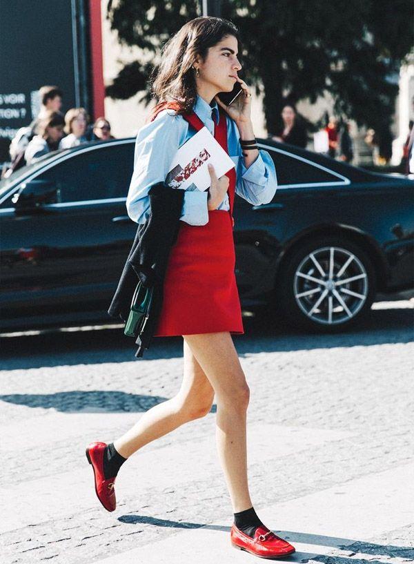 Flat time mocassim vermelho roupa de trabalho e ideias for Cama 0 90 x 1 90