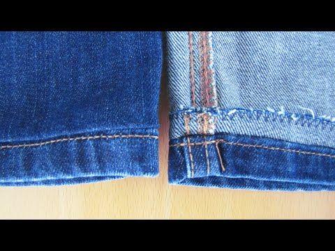 Jeans kürzen Originalsaum, Anleitung, Originalnaht. Selber nähen - YouTube