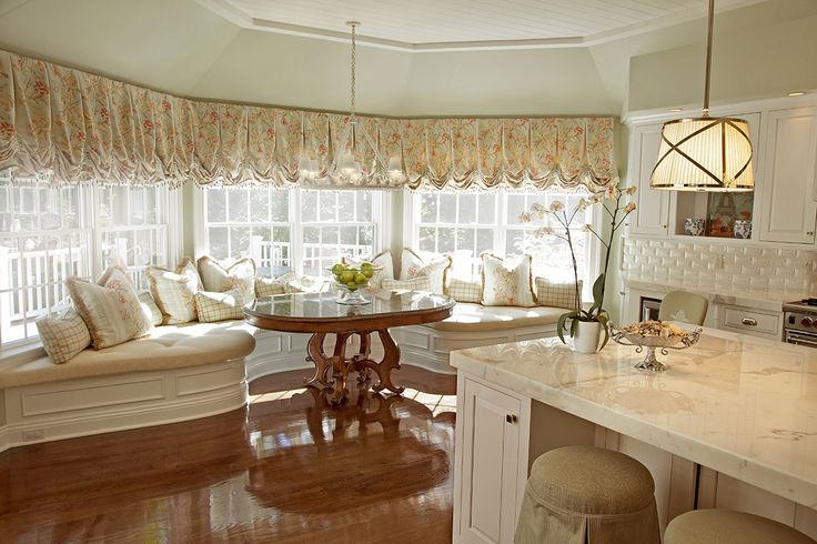 Love The Banquette , The Table, The White Cupboards
