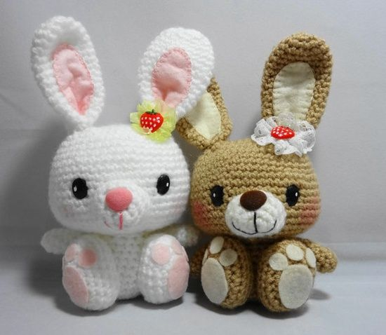 Amigurumi Rabbit : PDF Amigurumi Pattern: Big Feet Bunny Bunnies, Etsy and ...