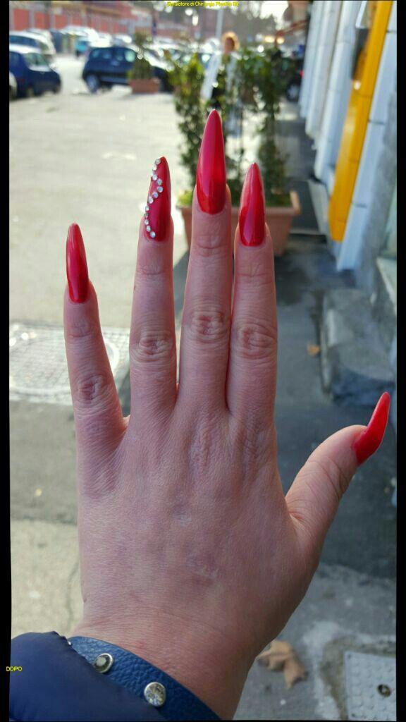 Ferrari red and swarovscky cristals