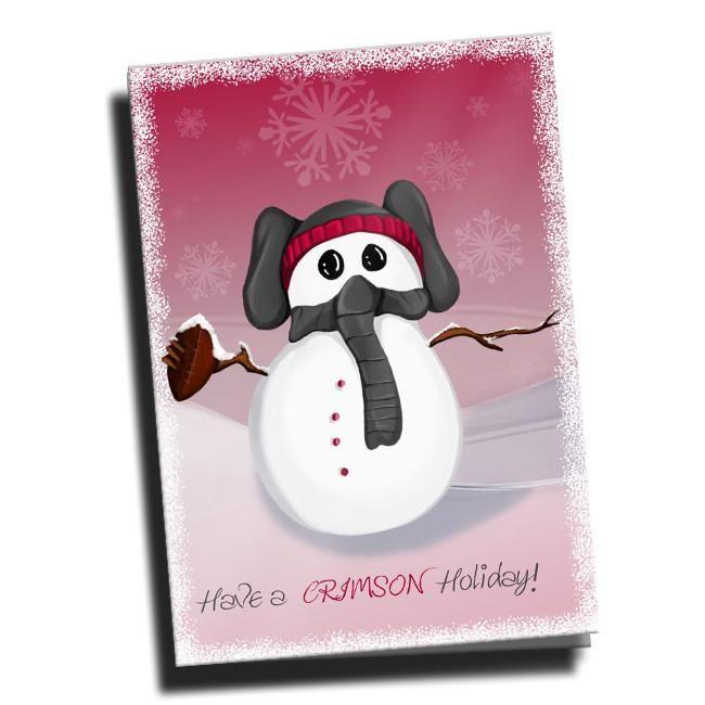 Alabama Crimson Tide Snowman Christmas Cards 5 Pack