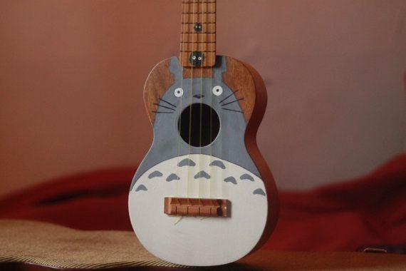 My Neighbor Totoro hand painted ukulele by KnotFancyCreations, $80.00