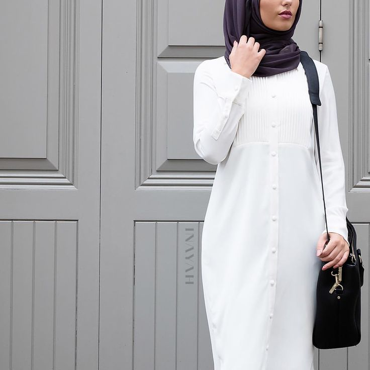 INAYAH | Modest Work #Shirt + Charcoal Georgette #Hijab www.inayahcollection.com