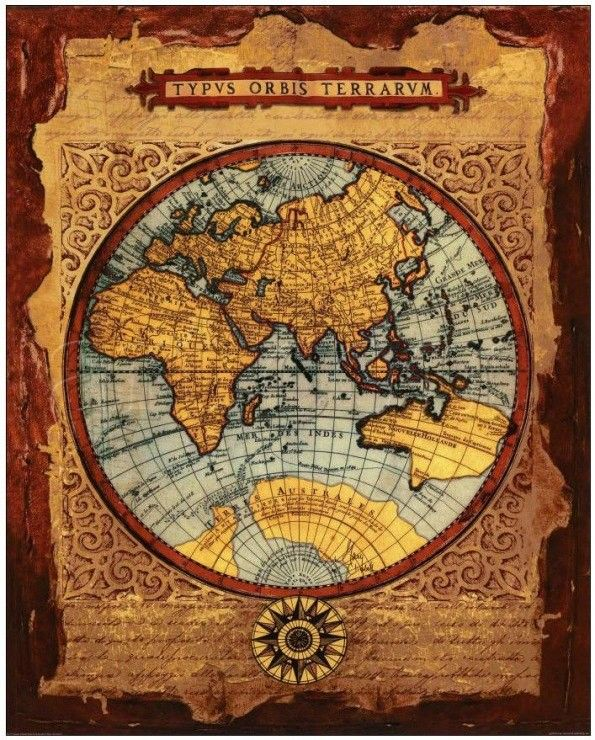 Картинки для декупажа старинные карты