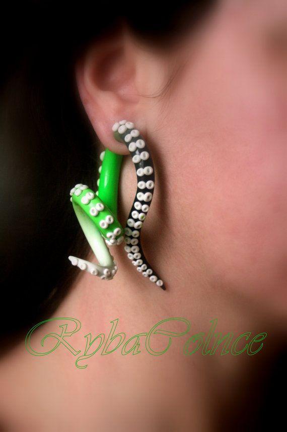 Fake ear tentacle gauge Faux gauge/Gauge by RybaColnce on Etsy