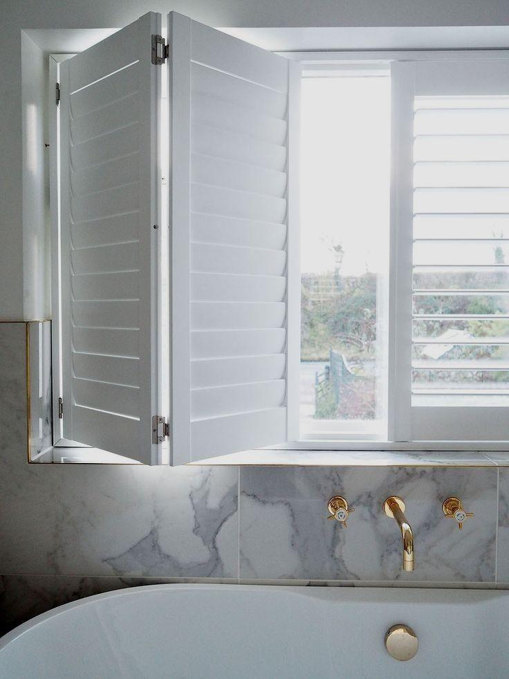 White Gold Wallmount Faucet Fixtures Shutters Fauce Window Shutters Diy Interior Windows Interior Window Shutters