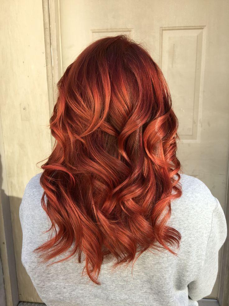 Cheveux roux d'automne. Joico rouge. Hair Studio de Ruston. Callie McCarter.