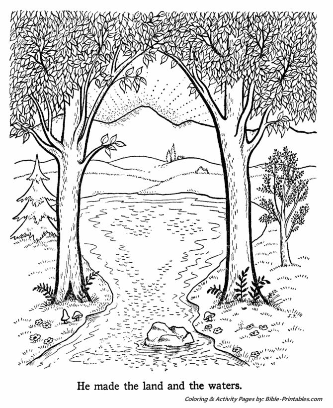 creation coloring pages kjv - photo#32