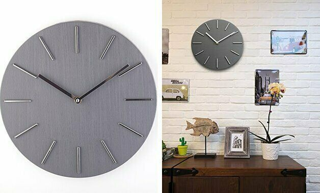 Bloom Flower 12 Inch Decorative Wall Clock Silent Non Ticking For Home Office In 2020 Clock Wall Decor Wall Clock Silent Clock