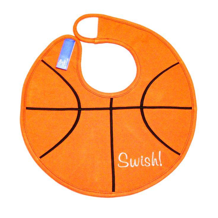 Amazon.com : Dibs on Bibs Basketball Baby Bib : Baby