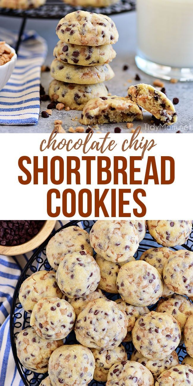 TOFFEE CHOCOLATE CHIP SHORTBREAD COOKIES