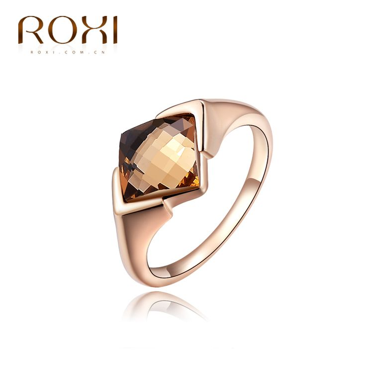 ROXI TOP Exquisite  Rings Rose Gold Plated With Zircon Fashion Environmental Micro-Inserted Jewelry Christmas Gift Body Jewelry
