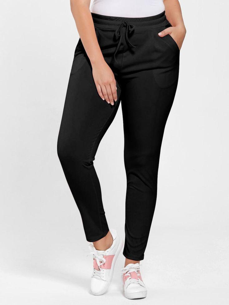 Plus Size Drawstring Waist Pants
