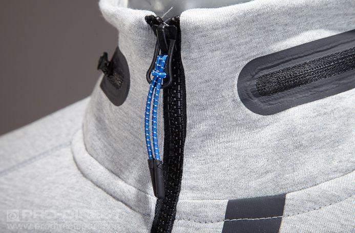 Mens Clothing - Nike Sportswear Tech Fleece AW77 Hoody - 1MM - Dark Grey Heather-Medium Grey-Black