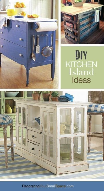 DIY Kitchen Island Ideas! #kitchenideas