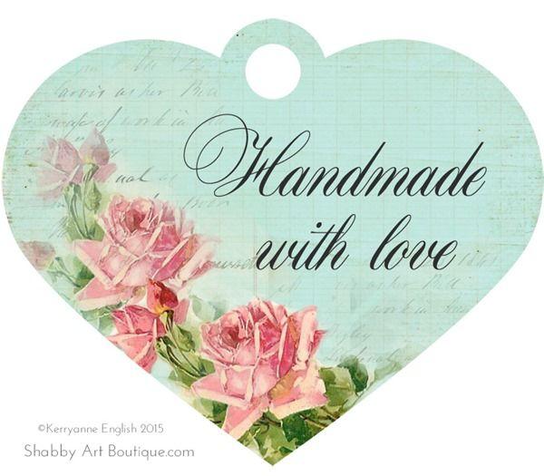 Free printable–handmade tags