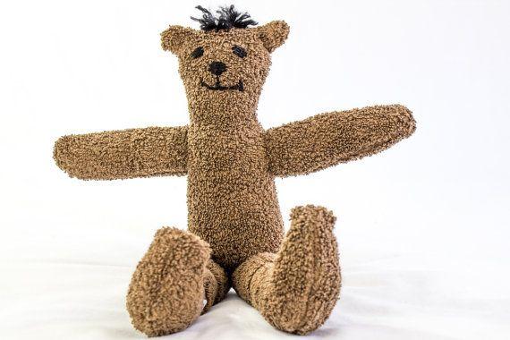 Handmade Terry Cloth Bear OOAK Soft Toy Bear by heaventoseven