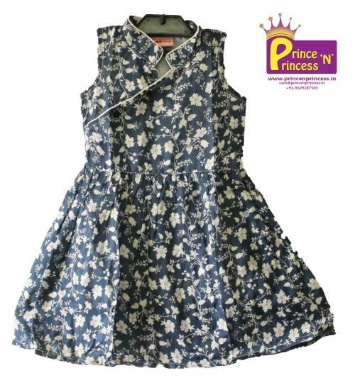 Kids Girls cotton frock from www.princenprincess.in #frock #cotton #simple