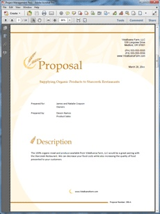 The Organic Farming Product Sales Sample Proposal Is One Of Many Sample  Business Proposals Included With Proposal Pack Proposal Templates And  Proposal ...