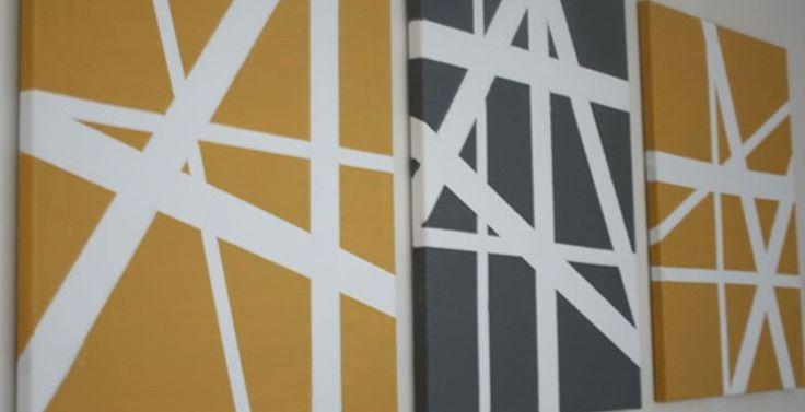 1000+ idee u00ebn over Verf Strepen op Pinterest   Geschilderde strepen, Gestreept geschilderde muren