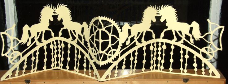 """""""Midvinter - Solhverv"""". Papercut. Meaning Midwinter - Solstice. Inspired by the nordic mythology and the fantastic """"Solvognen"""" a Sun chart found in a bog, from the danish bronze age. The horses are the vikinghorse, the icelandic. They pull the Sun and the Moon over the heaven, and stars are beneath them. By Naja Abelsen, cut on solstice day 2013."""