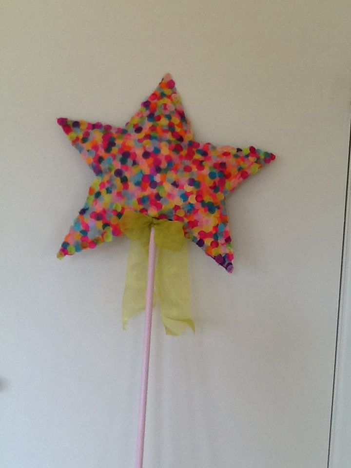 Giant Magic Wand - cardboard and confetti, for Fussypots Childrens Parties