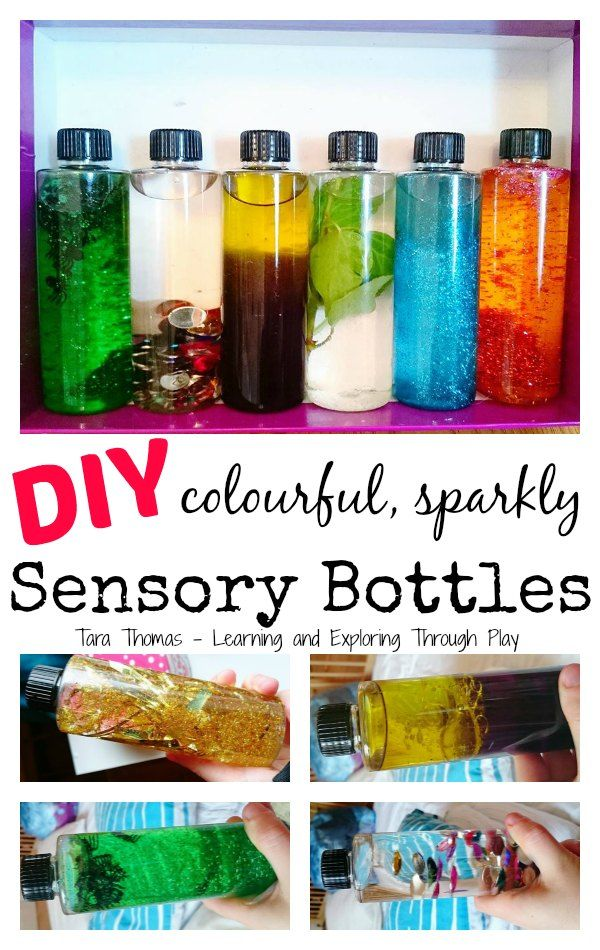 Learning and Exploring Through Play: Sensory Bottles DIY