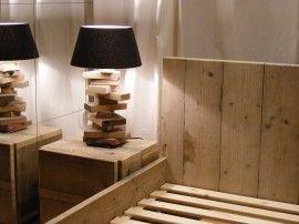 Lampje van oud gebruikt steigerhout met vitting voor lampje (22131440)