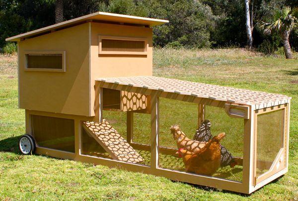 """chicken """"tractor"""" coop"""