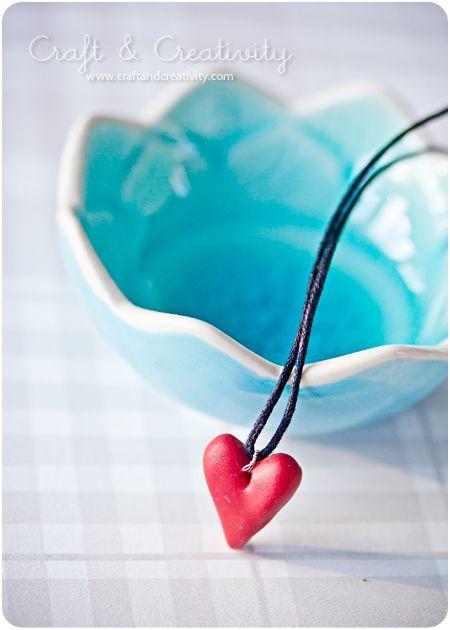 Fimo Heart Necklace DIY