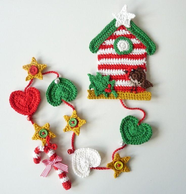 Birdhouse Wallhanger OOAK Christmas