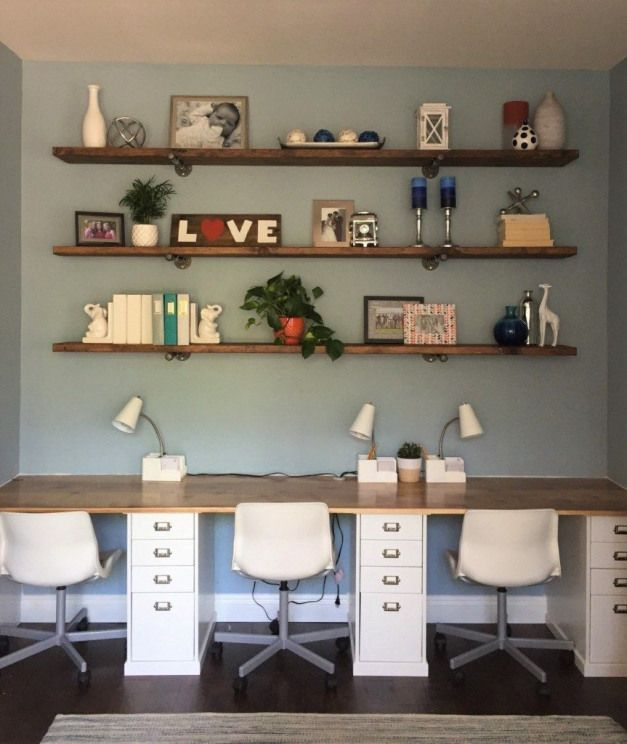 Desk And Shelves Officefurniture