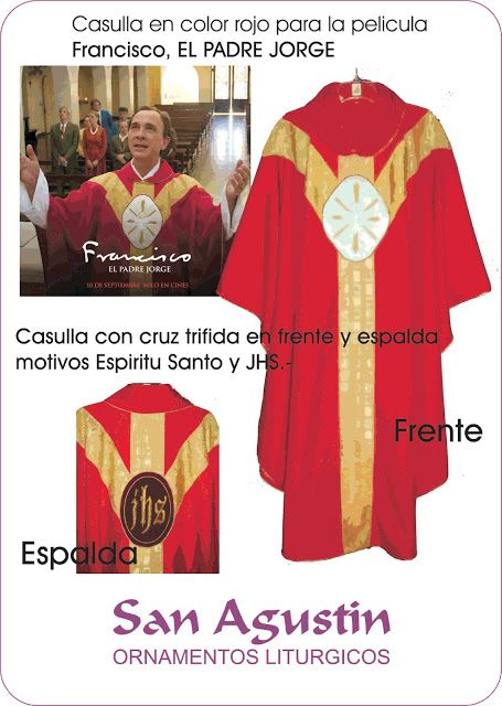 """San Agustin Ornamentos Litúrgicos - Argentina: Ornamento para la pelicula """"Francisco, el Padre Jo..."""