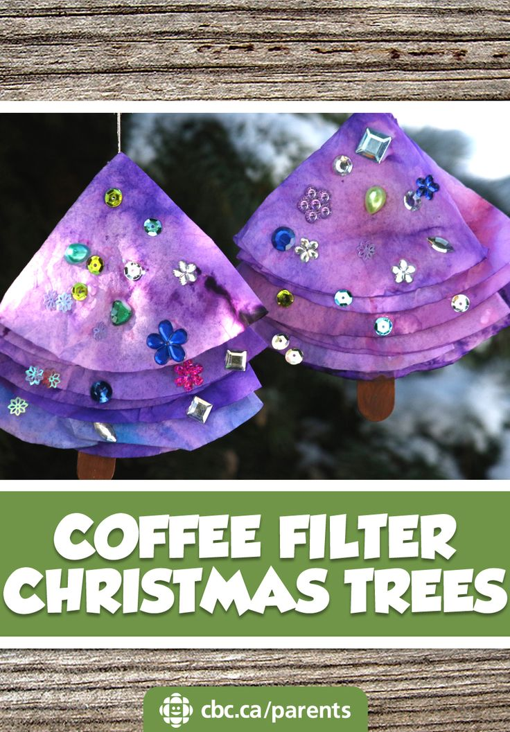Sparkly Coffee Filter Christmas Trees