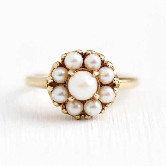 10k or 14k Yellow Gold Cultured Pearl Simply Sophisticated Ladies Every Day Ring