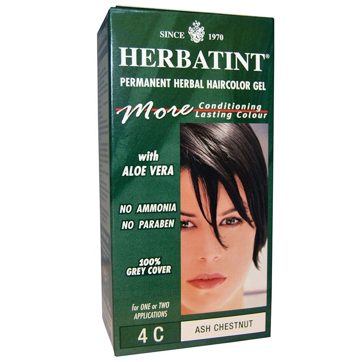 Herbatint, Permanent Herbal Haircolor Gel, 4C, Ash Chestnut, 4.56 fl oz (135 ml) - 2pc * See this great product.