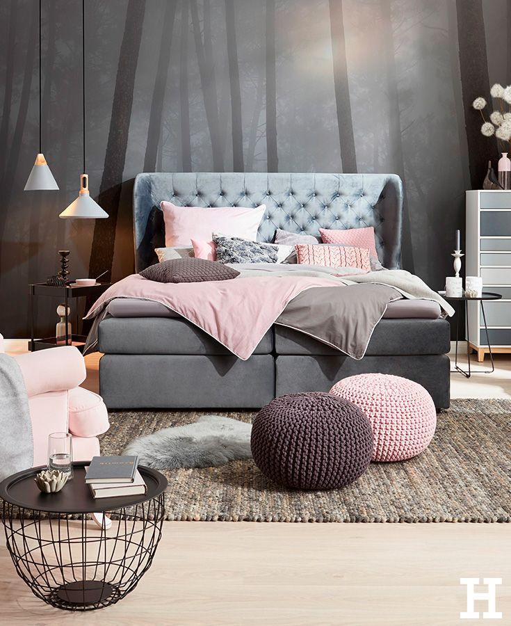 45 best Boxspringbetten Anthrazit images on Pinterest | Bedroom ...