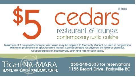 The Restaurant & Lounge at Tigh-Na-Mara!