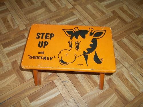 Vintage 1970s toys r us geoffrey giraffe step up