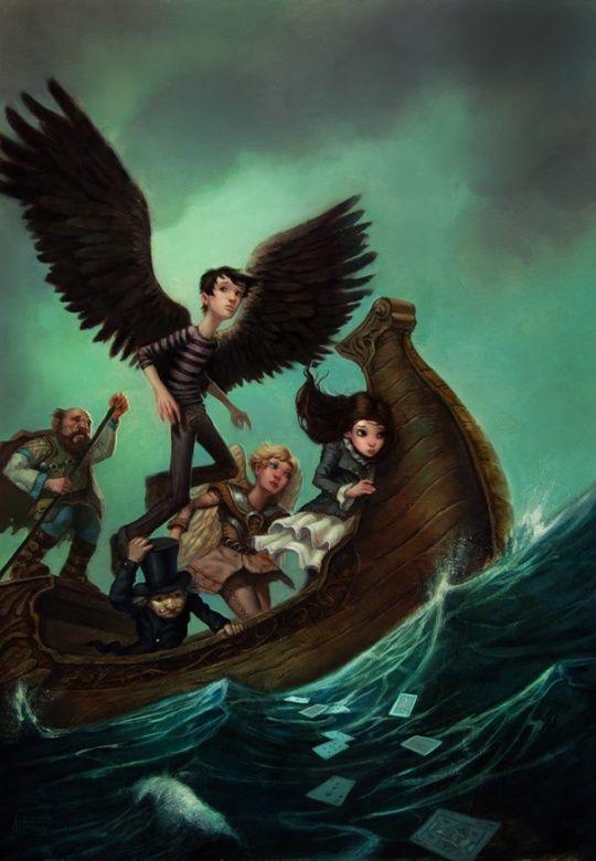 The Mysterious Mr. Spines: FLIGHT by Scott Altmann - Oil on board, digital post work