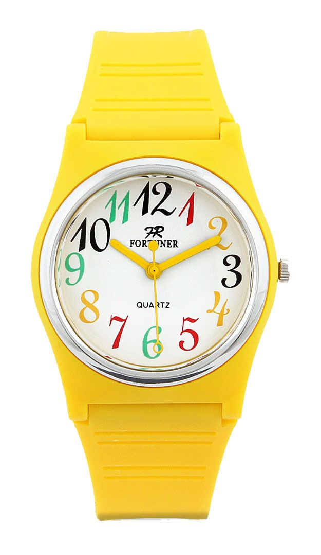 Fr625 Watches by Fortuner. Using rubber for material and has yellow color. Analog watches with water resist. The length of the strap: 23. 5 cm and diameter: 2. 5 cm. Wear this watches with your bright outffit to make your day brighter than ever!  http://www.zocko.com/z/JJOgS