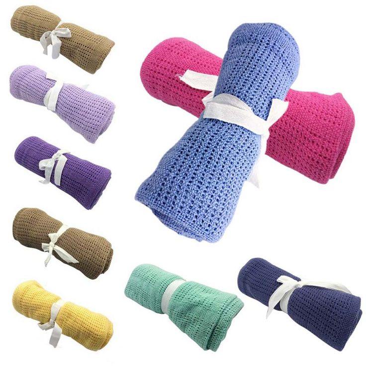 Infant Baby Blankets Cotton Crochet Prop Crib Newborn Sleeping Bed Supplies 100cmX80cm In Blanket