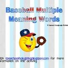 Batter up... to defining words with more than one definition! Enjoy this packet with 78 multiple meaning words!!! Play along with the swing and de...