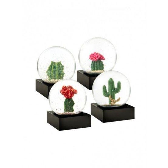 CoolSnowGlobes - Mini Kaktus Snekugler - 4-Pak
