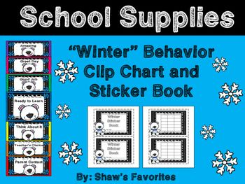 Winter Behavior Clip Chart AND Sticker Book:I loved Behavior Clip Charts, but I do like to change up my classroom every once in a while too. Your students will like the winter theme, and their behavior will improve with the incentives that come with this set.