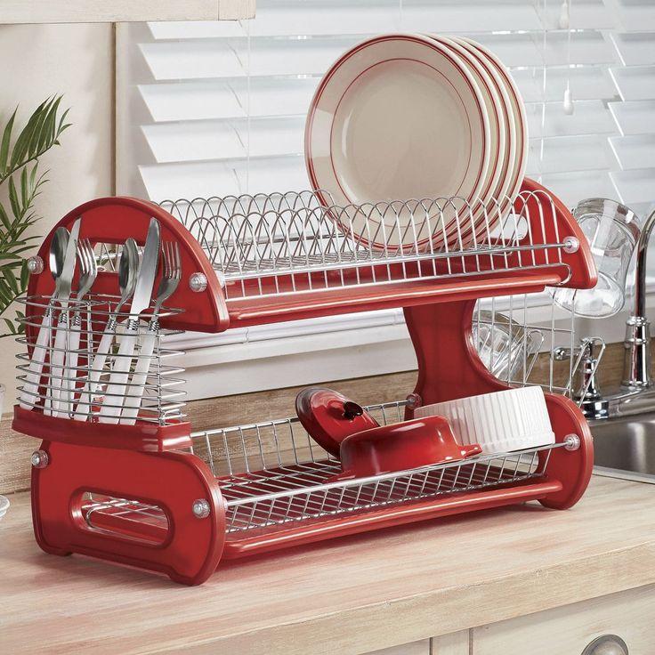 2Tier Dish Rack Muebles de cocina rusticos, Muebles