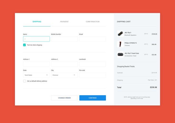 다음 @Behance 프로젝트 확인: \u201cPayment Page Concept\u201d https://www.behance.net/gallery/44573543/Payment-Page-Concept
