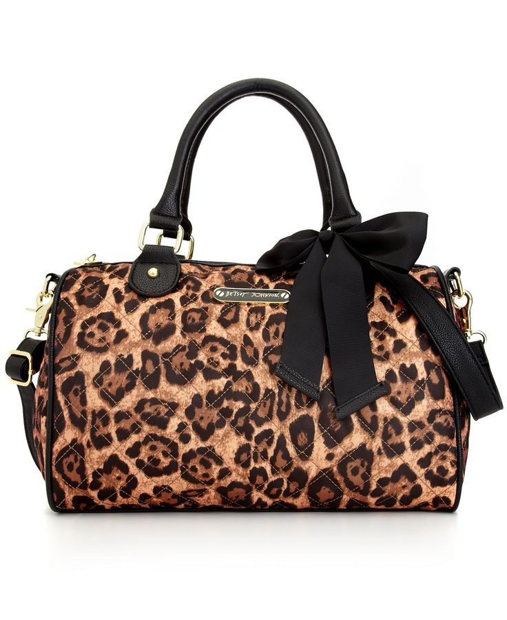 cheap guess handbags outlet gt78  Betsey Johnson Handbag, Animal Quilted Satchel