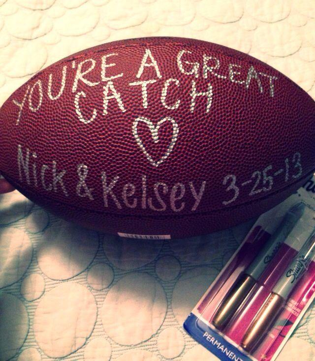 Birthday present I made for my football fanatic boyfriend!